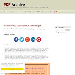 Receive working capital for small businesses .pdf - PDF Archive
