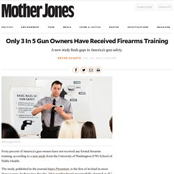 Only 3 In 5 Gun Owners Have Received Firearms Training – Mother Jones