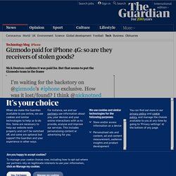 Gizmodo paid for iPhone 4G: so are they receivers of stolen good