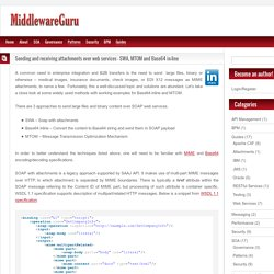 Sending and receiving attachments over web services – SWA, MTOM and Base64 in-line