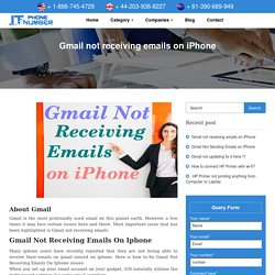 Gmail not receiving emails on iPhone