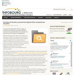 Une base de données recensant les logiciels libres et gratuits par discipline