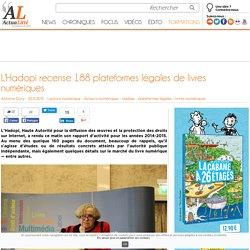 L'Hadopi recense 188 plateformes légales de livres numériques