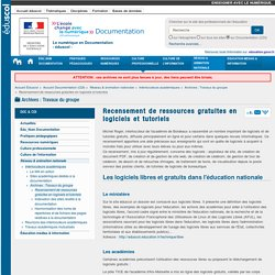 Recensement de ressources gratuites en logiciels et tutoriels — Documentation (CDI)