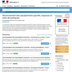 Recensement des équipements sportifs, espaces et sites de pratiques