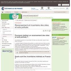 Recensement et inventaire des sites et sols pollués