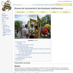 Bureau de recensement des boutiques stéphanoises