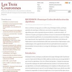 RECENSION : Dominique Cardon dévoile les rêves des algorithmes