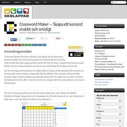 Recension av Crossword Maker - Skapa ett korsord snabbt och smidigt