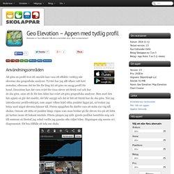 Recension av Geo Elevation - Appen med tydlig profil