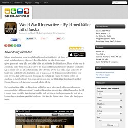 Recension av World War II Interactive - Fylld med källor att utforska