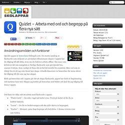Recension av Quizlet - Arbeta med ord och begrepp på flera nya sätt