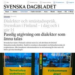 Recension: Dialekter och småstadsspråk. Svenskan i Finland – i dag och i går I:1 - Ann-Marie Ivars