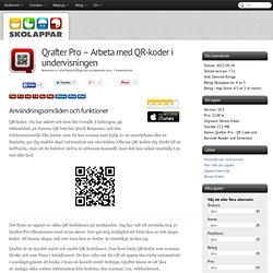 Recension av Qrafter Pro - Arbeta med QR-koder i undervisningen