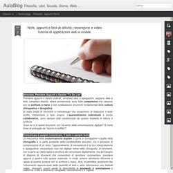 Note, appunti e liste di attività: recensione e video tutorial di applicazioni web e mobile