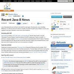 Recent Java 8 News