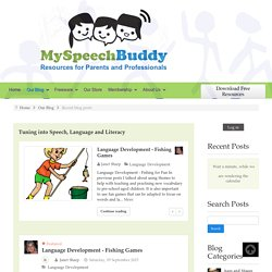 Recent blog posts - Tuning into Speech, Language and Literacy