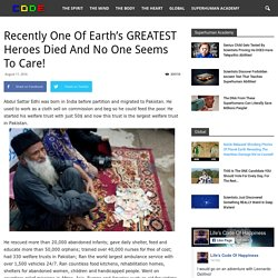Recently One Of Earth's GREATEST Heroes Died And No One Seems To Care!