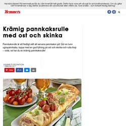 Recept pannkaksrulle med skinka och ost