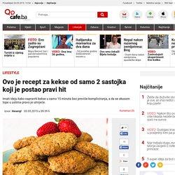 Ovo je recept za kekse od samo 2 sastojka koji je postao pravi hit - Magazin @ Cafe.ba