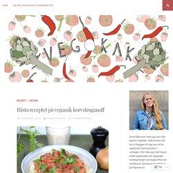 Bästa receptet på vegansk korvstroganoff – Vegokäk