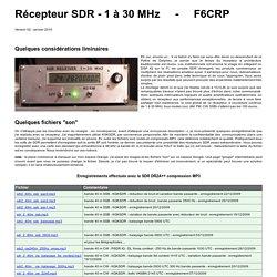 récepteur SDR 1 - 30 MHz - F6CRP