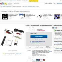 5.8G FPV Récepteur Kit de Récepteur RX 5.8GHz TX Transmetteur Audio Vidéo JF1O