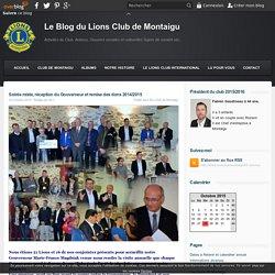 Soirée mixte, réception du Gouverneur et remise des dons 2014/2015 - Le Blog du Lions Club de Montaigu