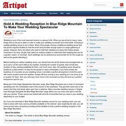 Weddings In Blue Ridge Mountain, VA