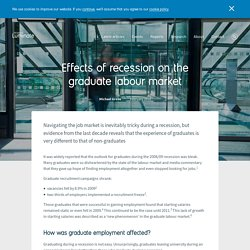 Effects of recession on the graduate labour market