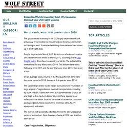 Recession Watch: Inventory Glut, Iffy Consumer Demand Sink US Freight Volume