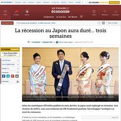 La récession au Japon aura duré… trois semaines