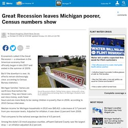 Great Recession leaves Michigan poorer, Census numbers show