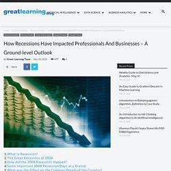 How Recessions Have Impacted Professionals And Businesses