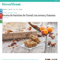 Receta de barritas de Cereal con avena y banana