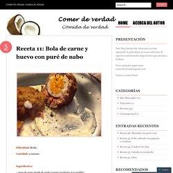Receta 11: Bola de carne y huevo con puré de nabo
