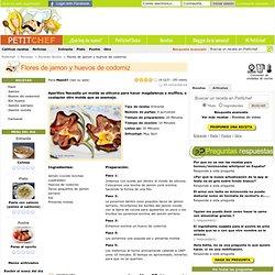 Receta Flores de jamon y huevos de codorniz, para Mam07