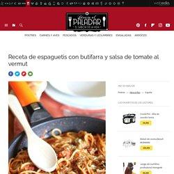 Receta de espaguetis con butifarra y salsa de tomate al vermut