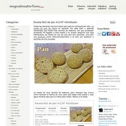 Receta fácil de pan #LCHF #SinGluten