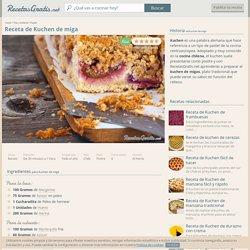 Receta de Kuchen de miga - Fácil - 7 pasos