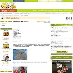 Receta Tabulé con bulgur para La cocina de Leila