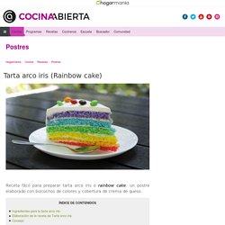 Receta de Tarta arco iris (Rainbow cake)
