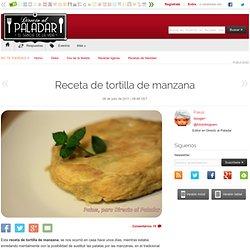 Directo al Paladar - Receta de tortilla de manzana