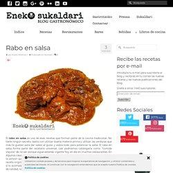 Rabo en salsa. Receta tradicional. Eneko Sukaldari