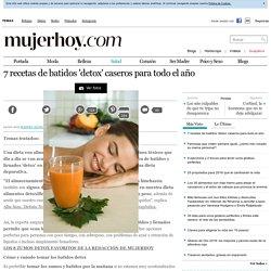 Siete recetas de batidos detox caseros para el verano