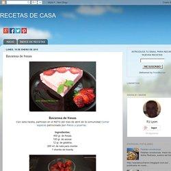 RECETAS DE CASA: Bavaresa de fresas