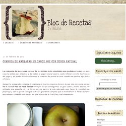 Compota de manzanas en Crock Pot con yogur natural