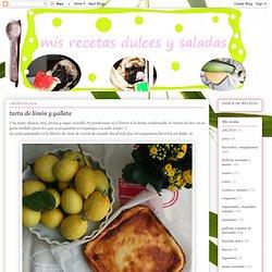 mis recetas dulces y saladas: tarta de limón y galleta