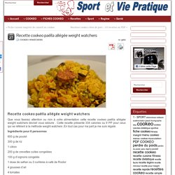 Recette cookeo paëlla allégée weight watchers