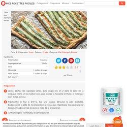 Recette Tarte aux asperges vertes facile